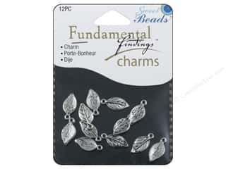 Clearance Sweet Beads: Sweet Beads Fundamental Finding Charms 12 pc. Leaves Silver
