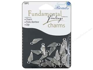 Sweet Beads Fundamental Finding Charms 18 pc. Small Wings Silver