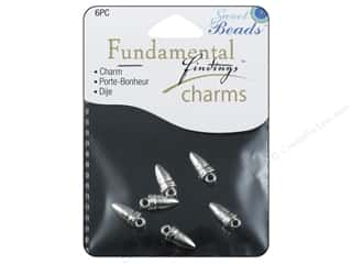 Sweet Beads Fundamental Finding Charms 6 pc. Horn Silver