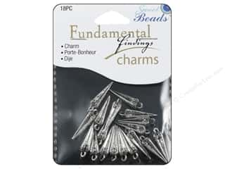 Clearance Sweet Beads: Sweet Beads Fundamental Finding Charms 18 pc. Spike Silver