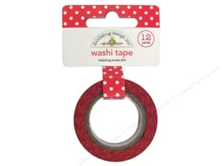 glues, adhesives & tapes: Doodlebug Washi Tape 5/8 in. x 12 yd. Ladybug