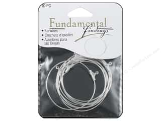 beading & jewelry making supplies: Sweet Beads Fundamental Finding Earring Hoop Large Silver 10pc