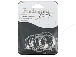 Sweet Beads Fundamental Finding Earring Hoop Medium Silver 12pc