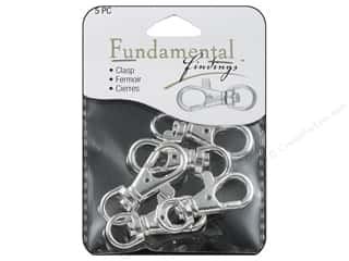 beading & jewelry making supplies: Sweet Beads Fundamental Finding Lobster Clasp Swivel Silver 5pc