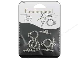 beading & jewelry making supplies: Sweet Beads Fundamental Finding Toggle Clasp 5/8 in. Strand Silver 4 pc.