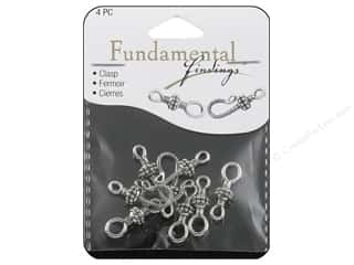 beading & jewelry making supplies: Sweet Beads Fundamental Finding Hook Clasp 25 mm Silver 4pc