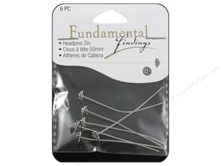 Sweet Beads Fundamental Finding Fancy Headpins Antique Silver 6 pc.