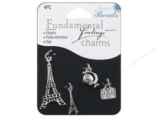 Sweet Beads Fundamental Finding Charms 4 pc. Paris Silver