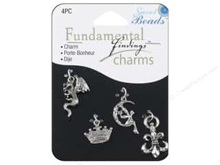 Sweet Beads Fundamental Finding Charms 4 pc. Fantasy Silver