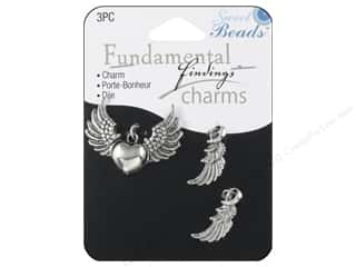 Clearance Sweet Beads: Sweet Beads Fundamental Finding Charms 3 pc. Wings Silver