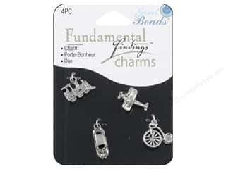 Sweet Beads Fundamental Finding Charms 4 pc. Travel Silver