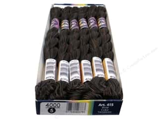 mettler mercerized cotton thread: DMC Pearl Cotton Variations Size 5 #4000 Espresso (6 skeins)