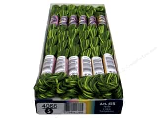 yarn & needlework: DMC Pearl Cotton Variations Size 5 #4066 Amazon Moss (6 skeins)