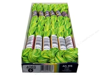 yarn & needlework: DMC Pearl Cotton Variations Size 5 #4069 Margarita (6 skeins)