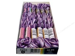 yarn & needlework: DMC Pearl Cotton Variations Size 5 #4255 Orchid (6 skeins)