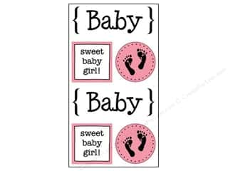 SRM Press Sticker Quick Cards Baby Girl