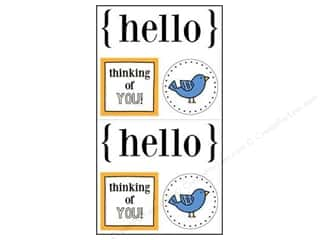 bird sticker: SRM Press Sticker Quick Cards Hello