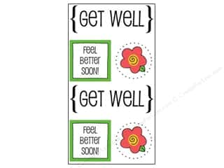 scrapbooking & paper crafts: SRM Press Sticker Quick Cards Get Well
