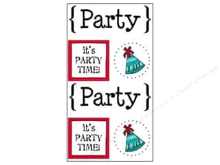 scrapbooking & paper crafts: SRM Press Sticker Quick Cards Party
