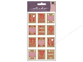 Valentines Day Gifts Stickers: EK Sticko Stickers Love Stamps
