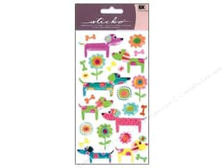 theme stickers  floral: EK Sticko Stickers Patterned Puppies