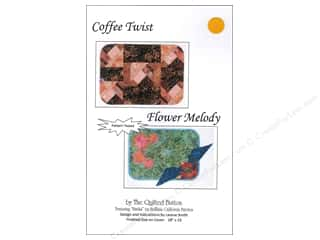 Quilted Button Coffee Twist/Flower Medley Pattern