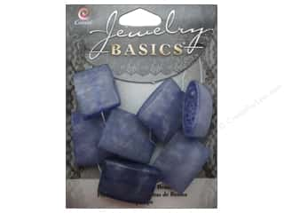 Resin/Synthetic Bead: Cousin Resin Beads 7/8 in. Square Blue 7 pc.