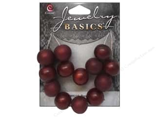 Resin/Synthetic Bead: Cousin Resin Beads 9/16 in. Round Red 13 pc.