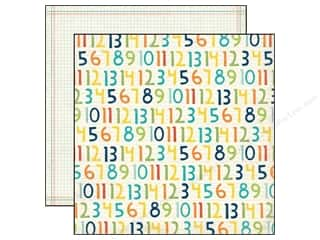 Echo Park Paper Company: Echo Park 12 x 12 in. Paper Scoot Collection Numbers (25 sheets)
