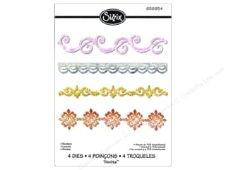 dies: Sizzix Thinlits Die Set 4 pc. Borders