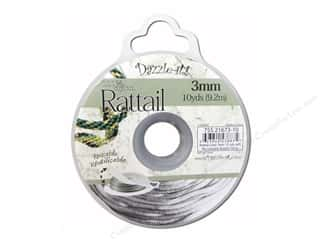 beading & jewelry making supplies: Dazzle It Rattail Cord 3 mm x 10 yd. Silver