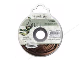 craft & hobbies: Dazzle It Rattail Cord 1.5 mm x 20 yd. Light Chocolate