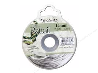craft & hobbies: Dazzle It Rattail Cord 1.5 mm x 20 yd. Silver