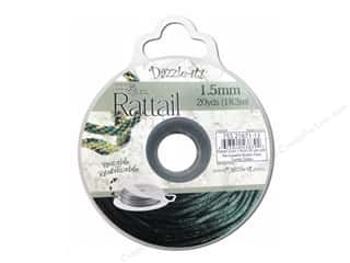 beading & jewelry making supplies: Dazzle It Rattail Cord 1.5 mm x 20 yd. Dark Hunter Green