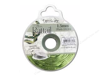 beading & jewelry making supplies: Dazzle It Rattail Cord 1.5 mm x 20 yd. Olive