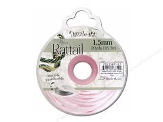 beading & jewelry making supplies: Dazzle It Rattail Cord 1.5 mm x 20 yd. Light Pink