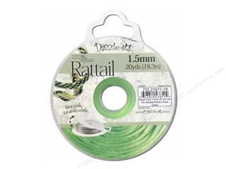 beading & jewelry making supplies: Dazzle It Rattail Cord 1.5 mm x 20 yd. Grass Green