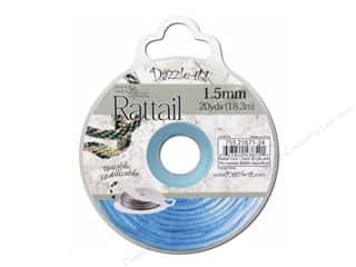 beading & jewelry making supplies: Dazzle It Rattail Cord 1.5 mm x 20 yd. Aqua Blue