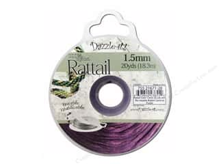 beading & jewelry making supplies: Dazzle It Rattail Cord 1.5 mm x 20 yd. Cardinal Purple