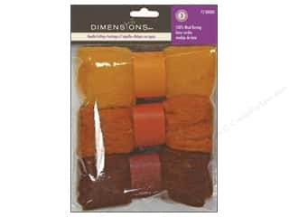yarn & needlework: Dimensions Feltworks 100% Wool Roving Trio Gold/Rust