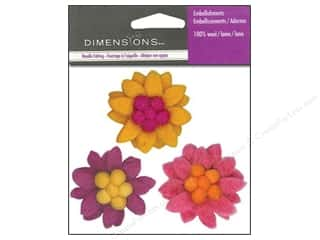 Yarn & Needlework: Dimensions Wool Felt Embellishment Small Zinnias