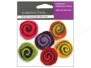 wool felt: Dimensions Wool Felt Embellishment Multi-Color Spirals