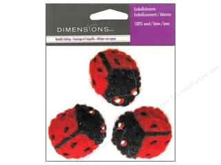 yarn & needlework: Dimensions Wool Felt Embellishment Ladybugs