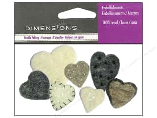 wool felt: Dimensions Wool Felt Embellishment Heart Mix