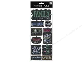 stickers: Me&My Big Ideas Sticker Sticks Sayings Chalk Family