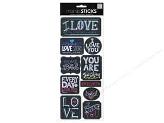 scrapbooking & paper crafts: Me&My Big Ideas Sticker Sticks Sayings Chalk Love