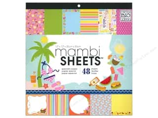 Holiday Sale Designer Papers & Cardstock: Me & My Big Ideas Sheets Cardstock Pad 12 x 12 in. Summer Days