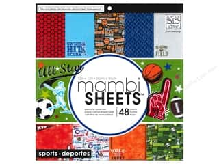 Holiday Sale Designer Papers & Cardstock: Me & My Big Ideas Sheets Cardstock Pad 12 x 12 in. All Star Sports