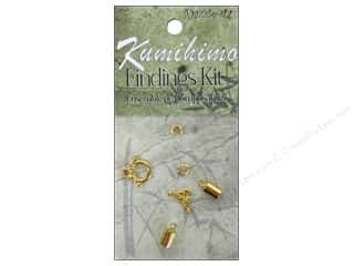 beading & jewelry making supplies: Dazzle It Kumihimo Finding Kit 5 mm Gold