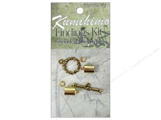 beading & jewelry making supplies: Dazzle It Kumihimo Finding Kit 7 mm Gold